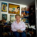 Internationally recognized art curator, Sofia Imber at her home in Caracas, Venezuela. Imber was the founding director of the Museum of Contemporary Art in Caracas in 1973, which was later renamed in her honor in 1991. She has remained a prominent figure in the Latin American art scene to this day.   (Meridith Kohut for Simon Romero's profile piece on Sofia Imber)
