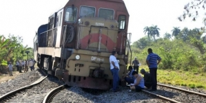 Se descarrila un tren en la zona central de Cuba