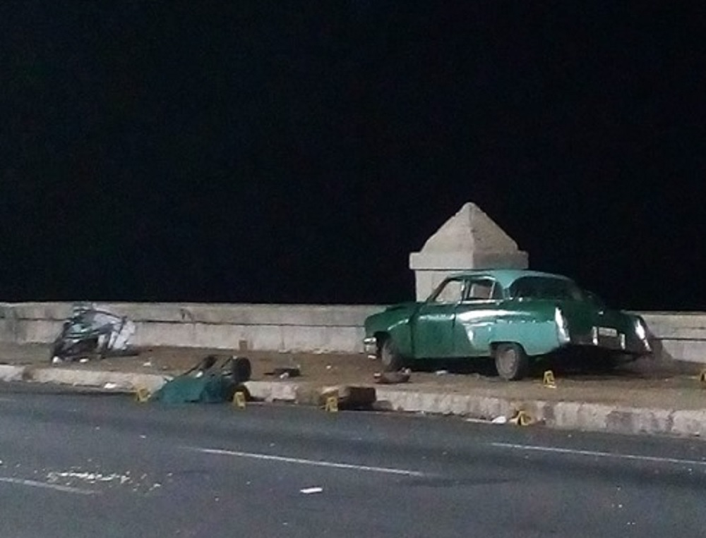 cuba habana malecon accidente tránsito