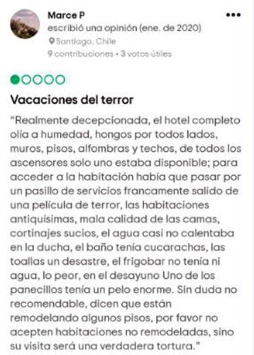Comments published on the TripAdvisor webpage by guests of the HabanaLibre Hotel (Screen shot)